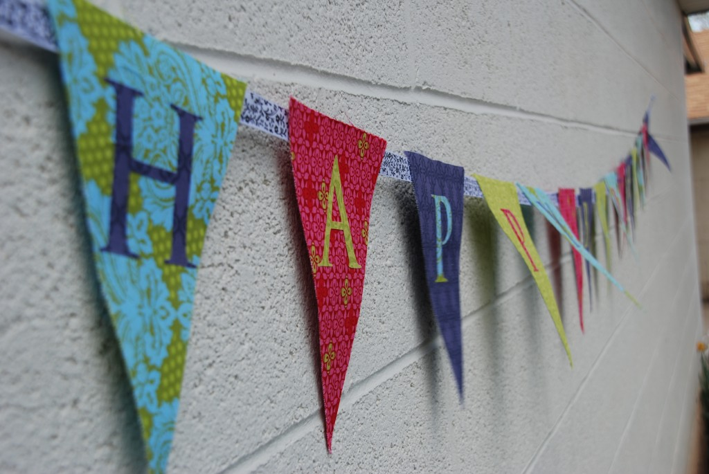 Photos   How To Make A Fabric Happy Birthday Banner Using A Cricut vX3oZUTp