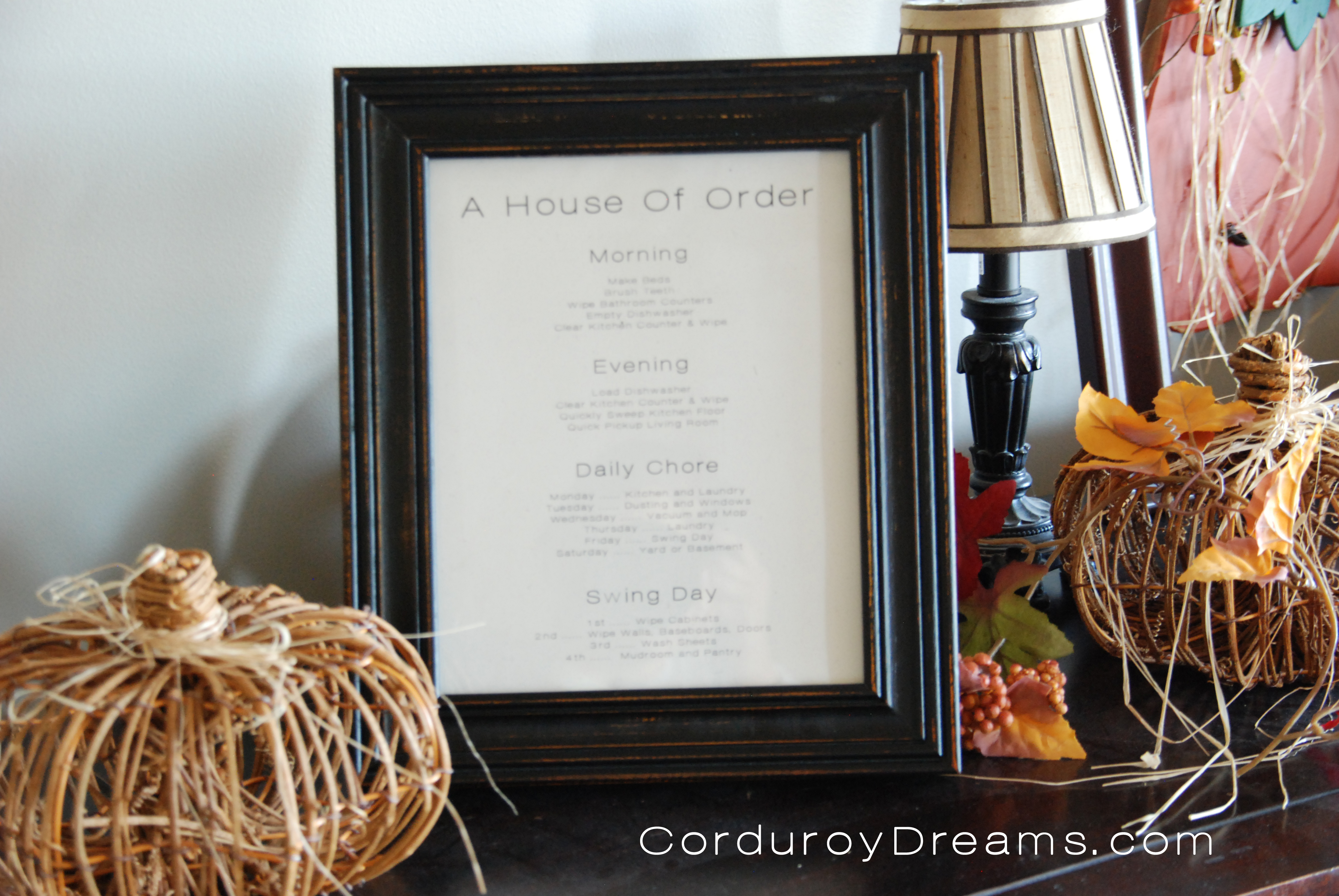 A House of Order {Printable Chore Charts}