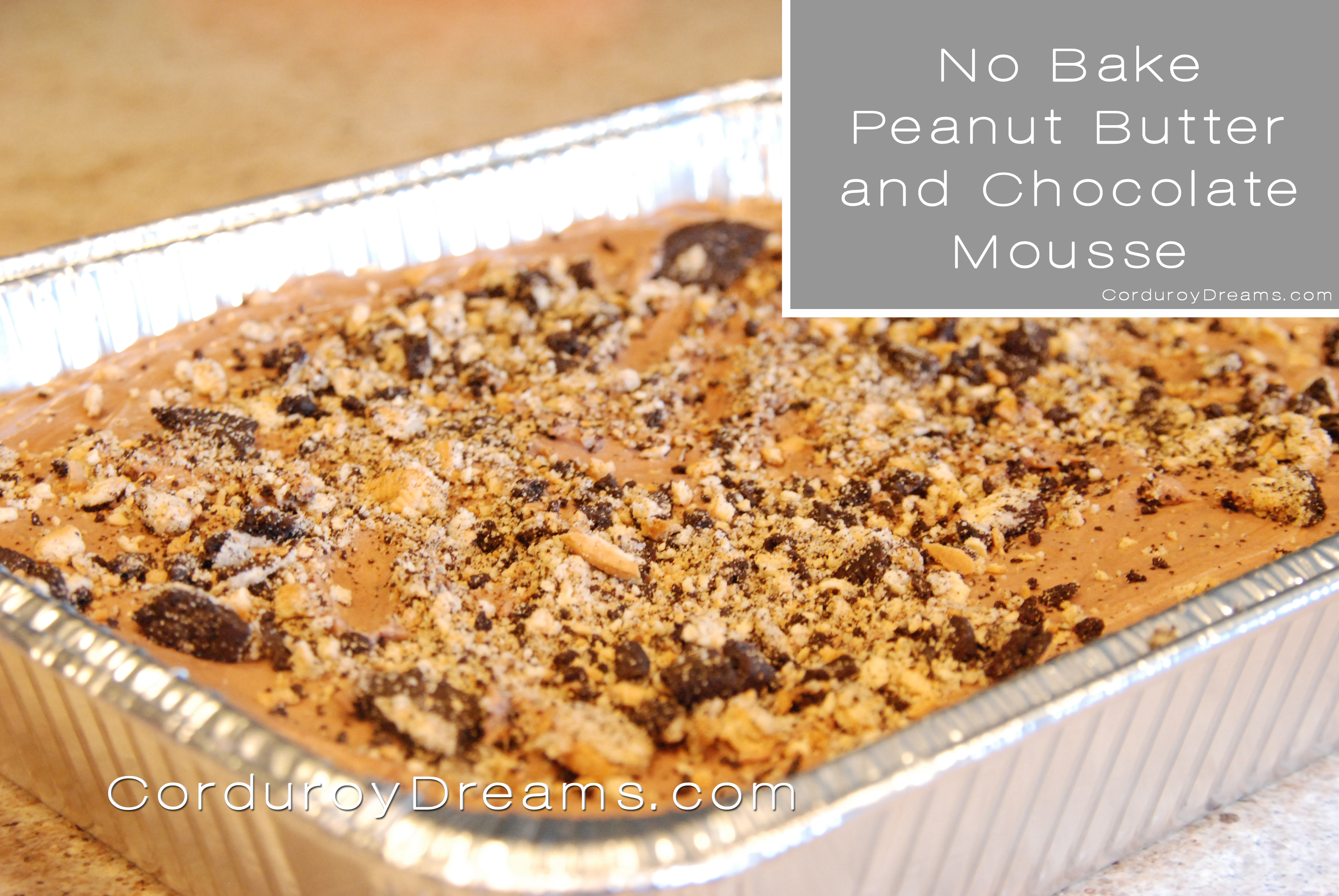 No Bake Peanut Butter And Chocolate Dessert The Creative Mom