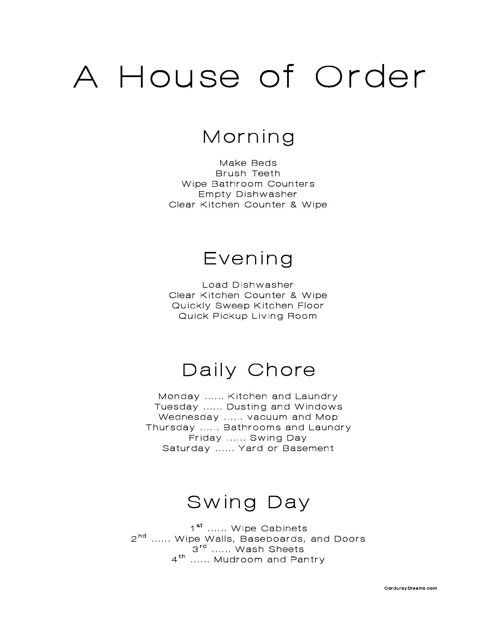 A House of Order {revised}