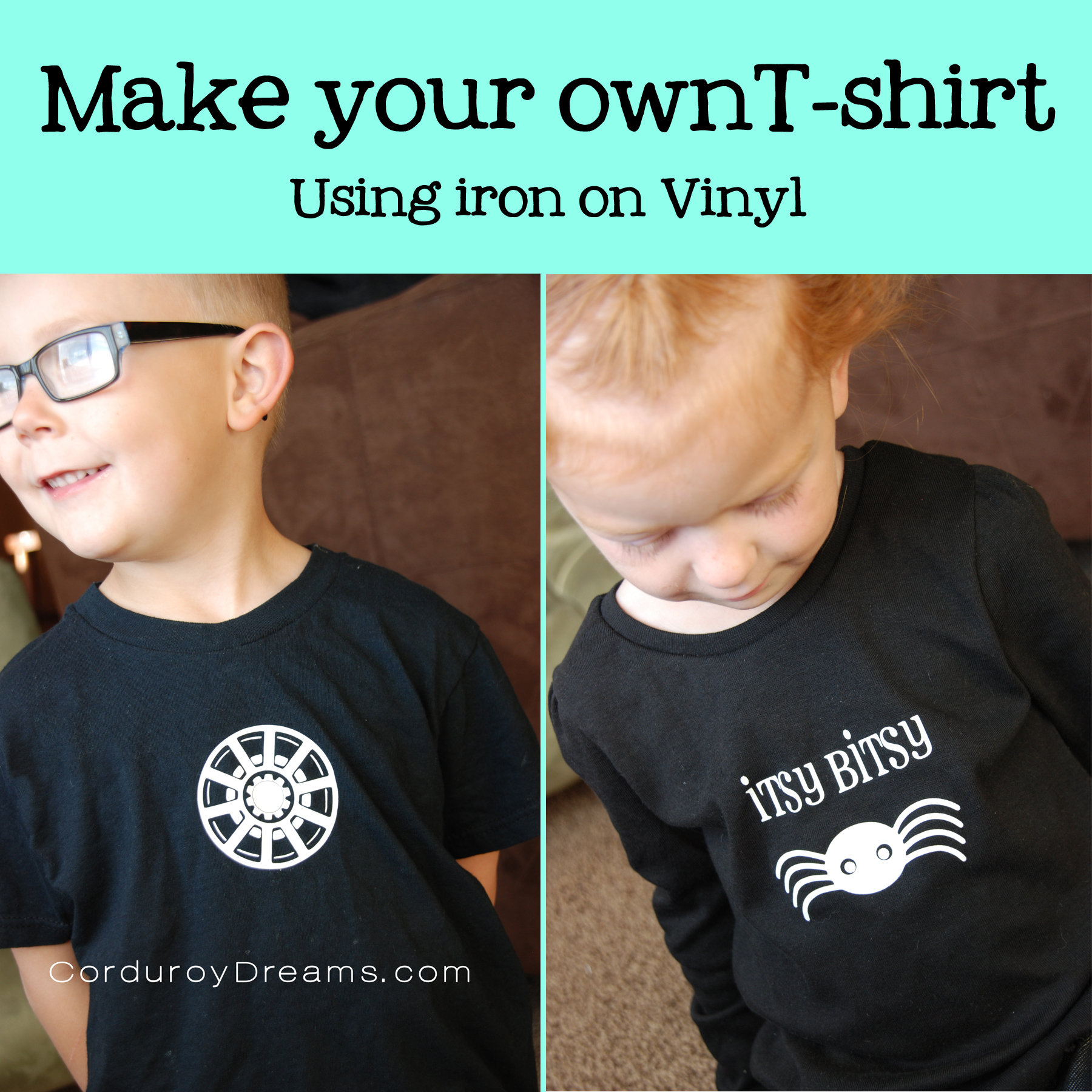 Make your own t shirt using iron on vinyl the creative mom for Create your own iron on transfer for t shirt