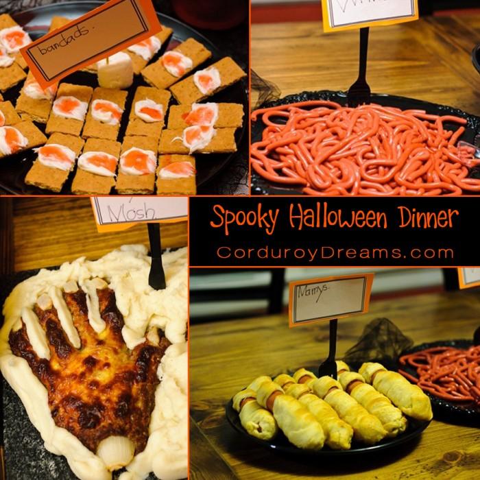 spooky halloween dinner the creative mom