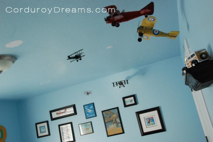A Boy S Room Airplane Theme The