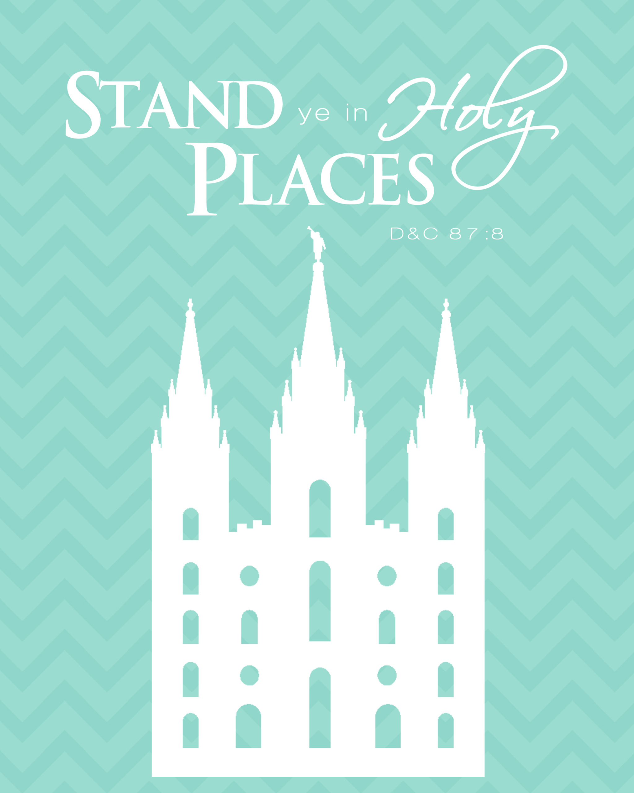 Stand in Holy Places Printable {Free Download}