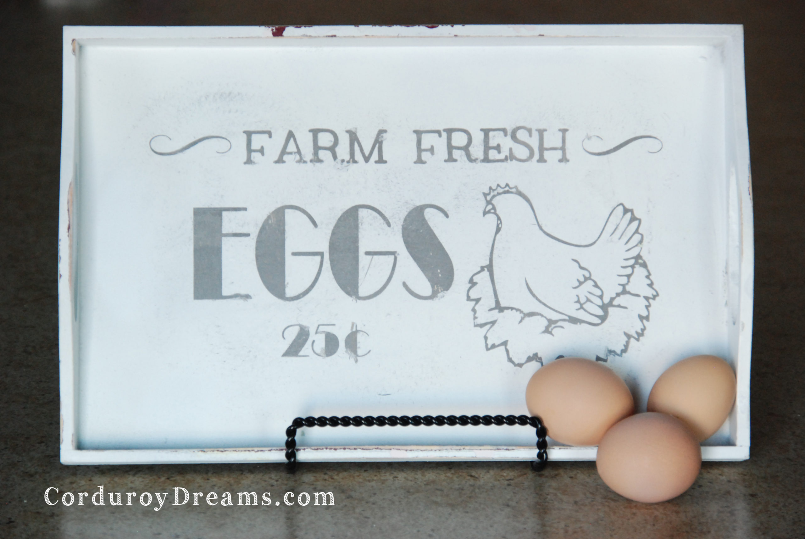 Painted Egg Sign with Silhouette {Tutorial}