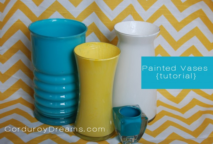 How To Paint A Glass Vase Tutorial The Creative Mom