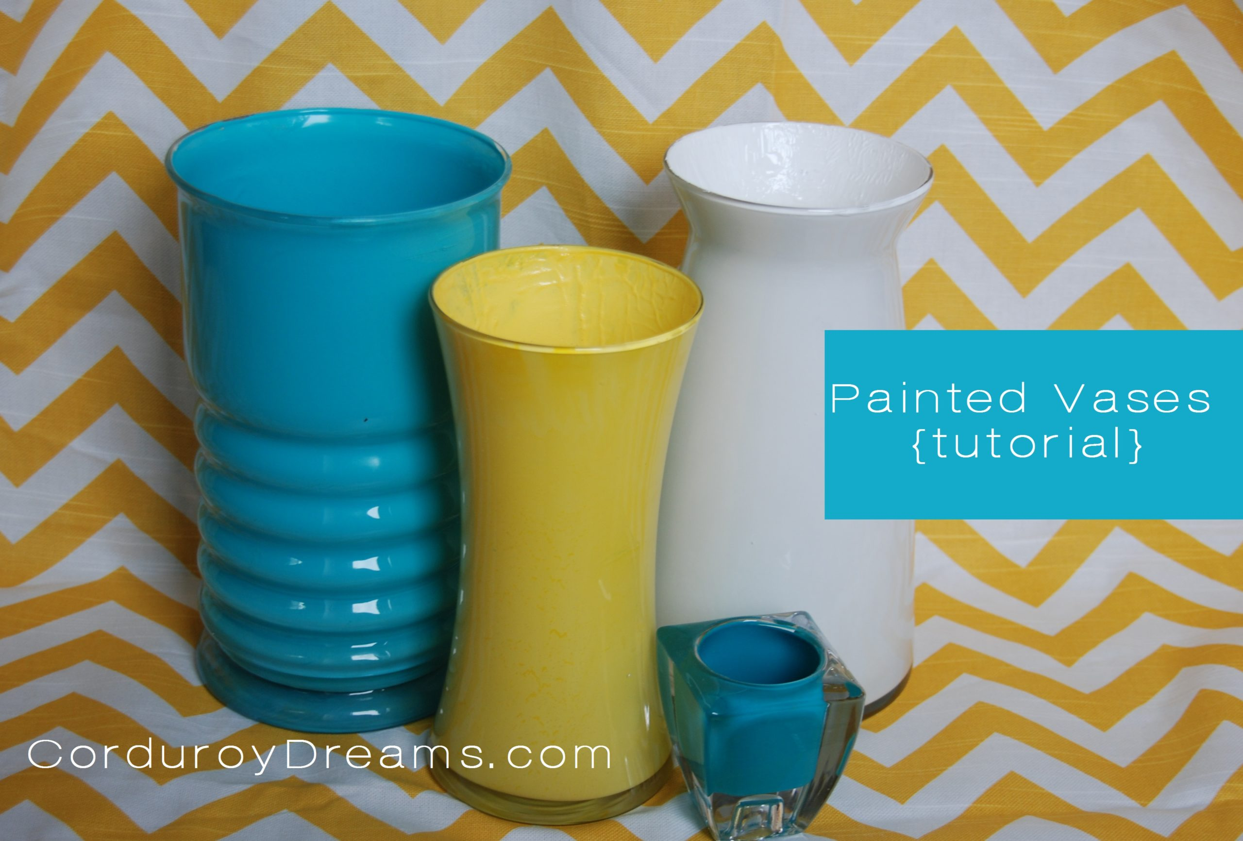 How to Paint a Glass Vase {tutorial}