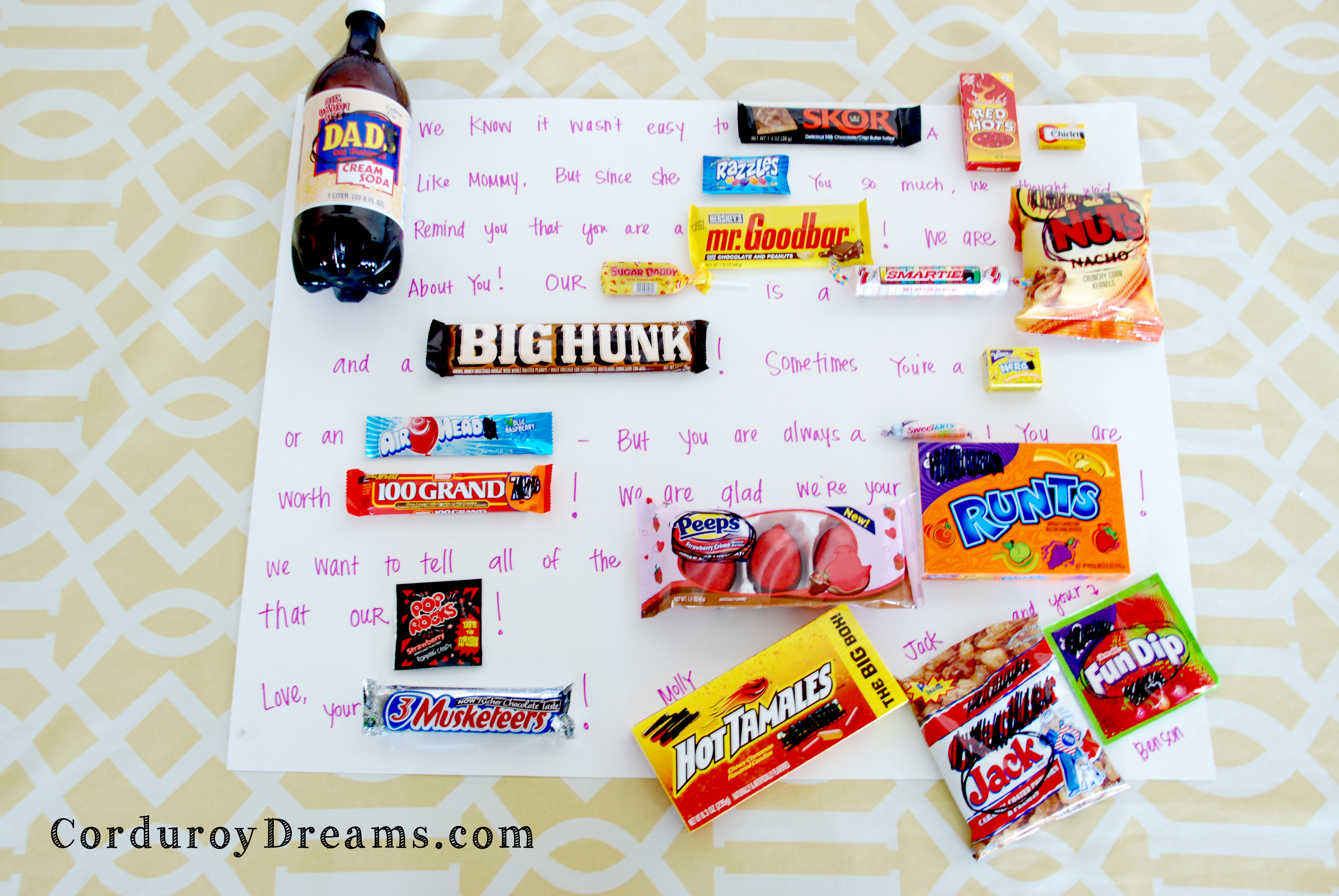 Fun Candy Ideas Candy Gram For Dad {gift Idea}