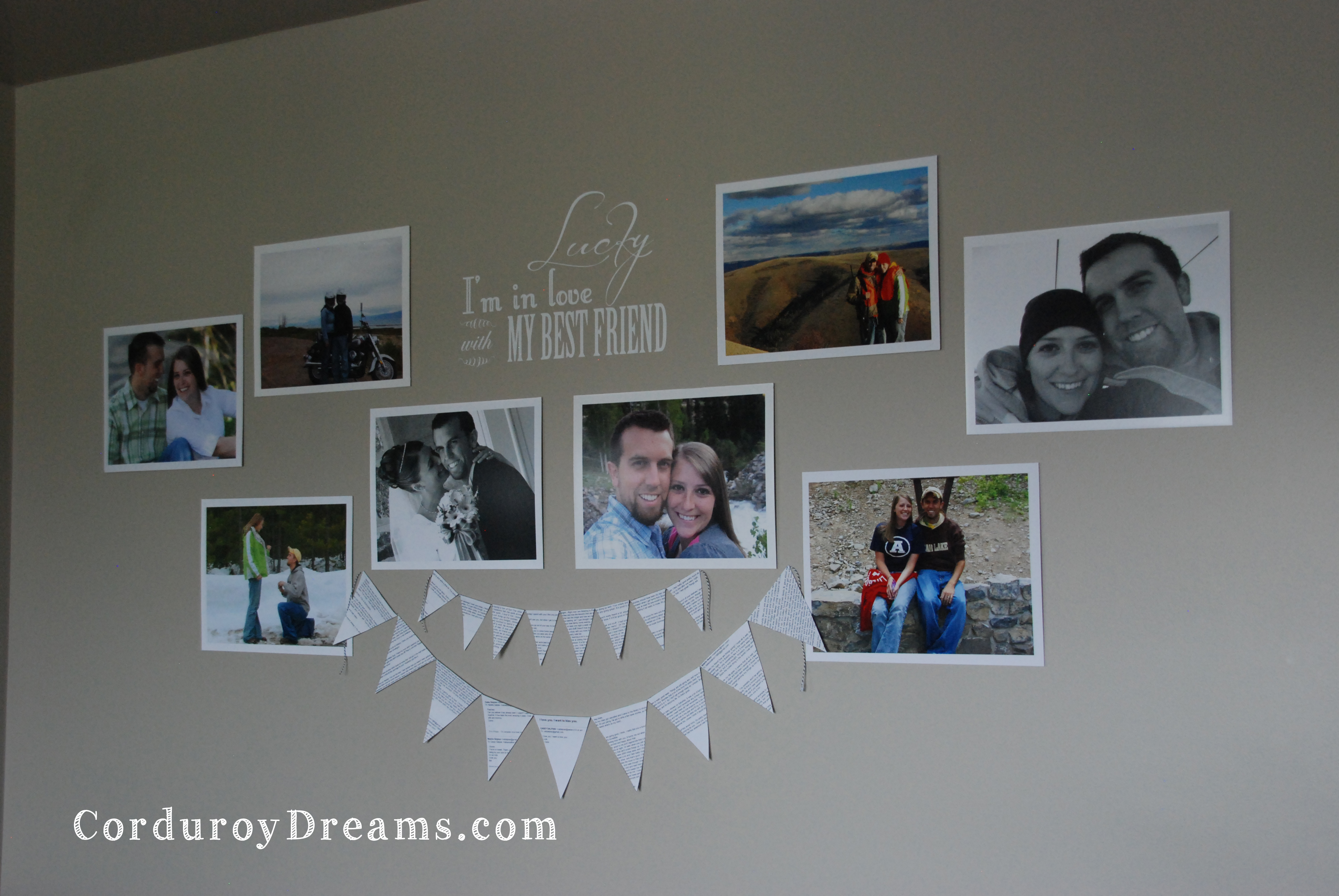 Bedroom Gallery Wall {and a discount code for mpix.com}