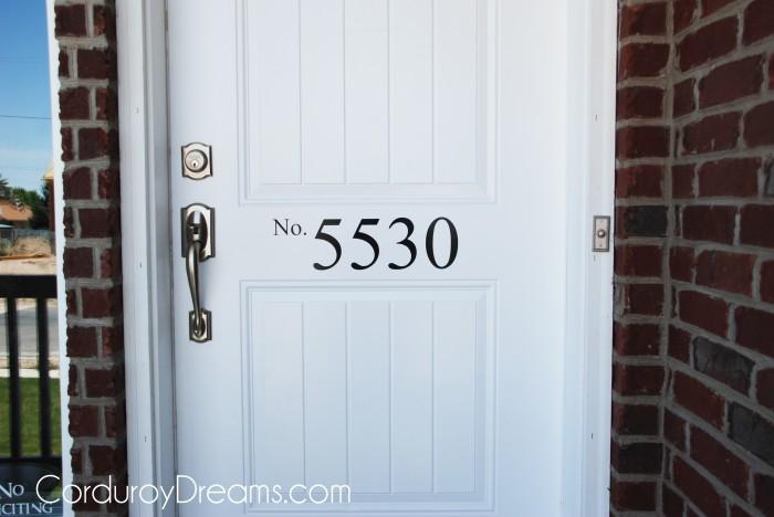 House Numbers On Front Door