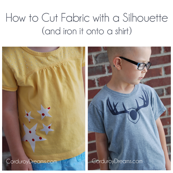 How to Cut Fabric with a Silhouette (and iron it on a shirt)