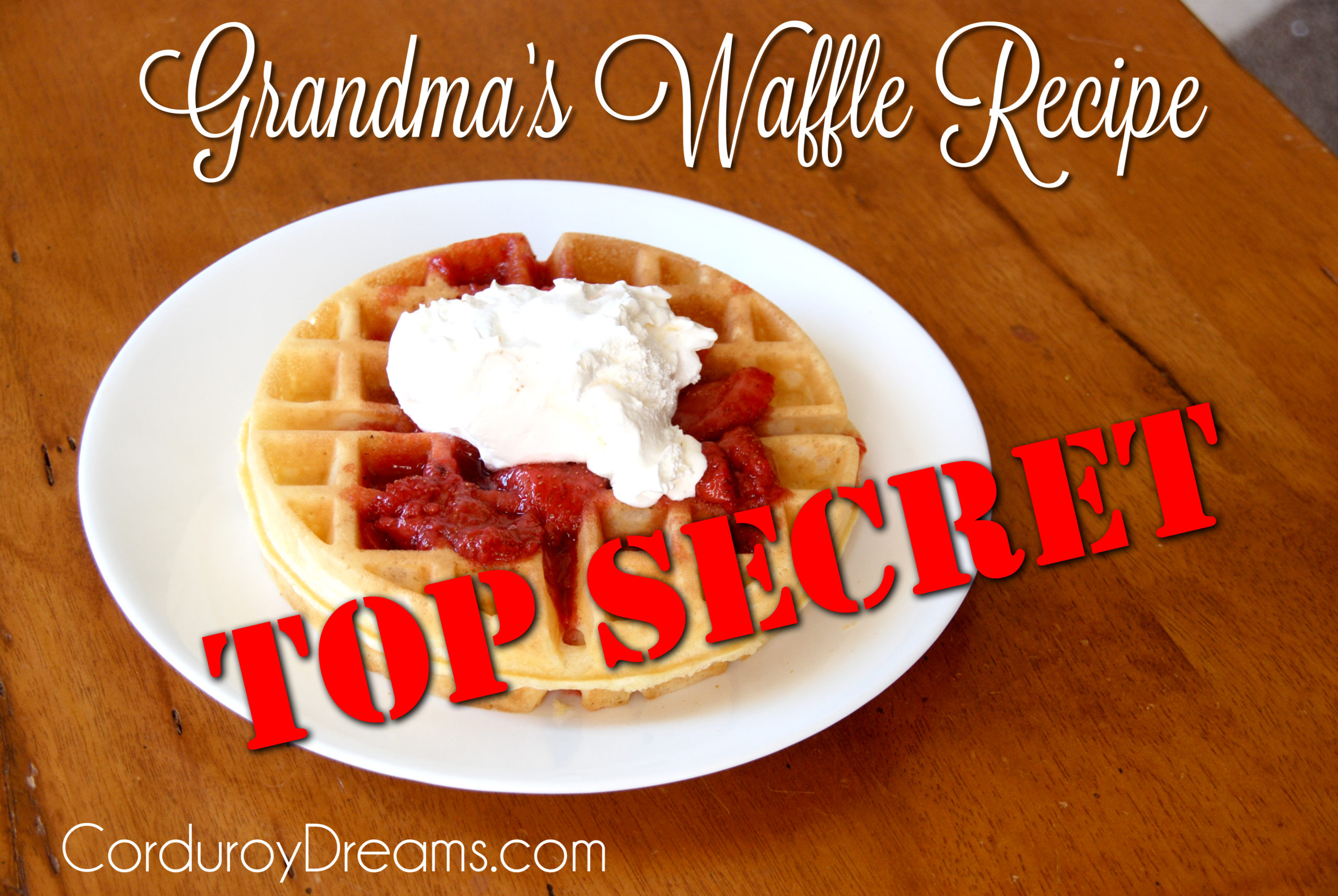 Homemade Waffle Recipe (with Strawberry Sauce)