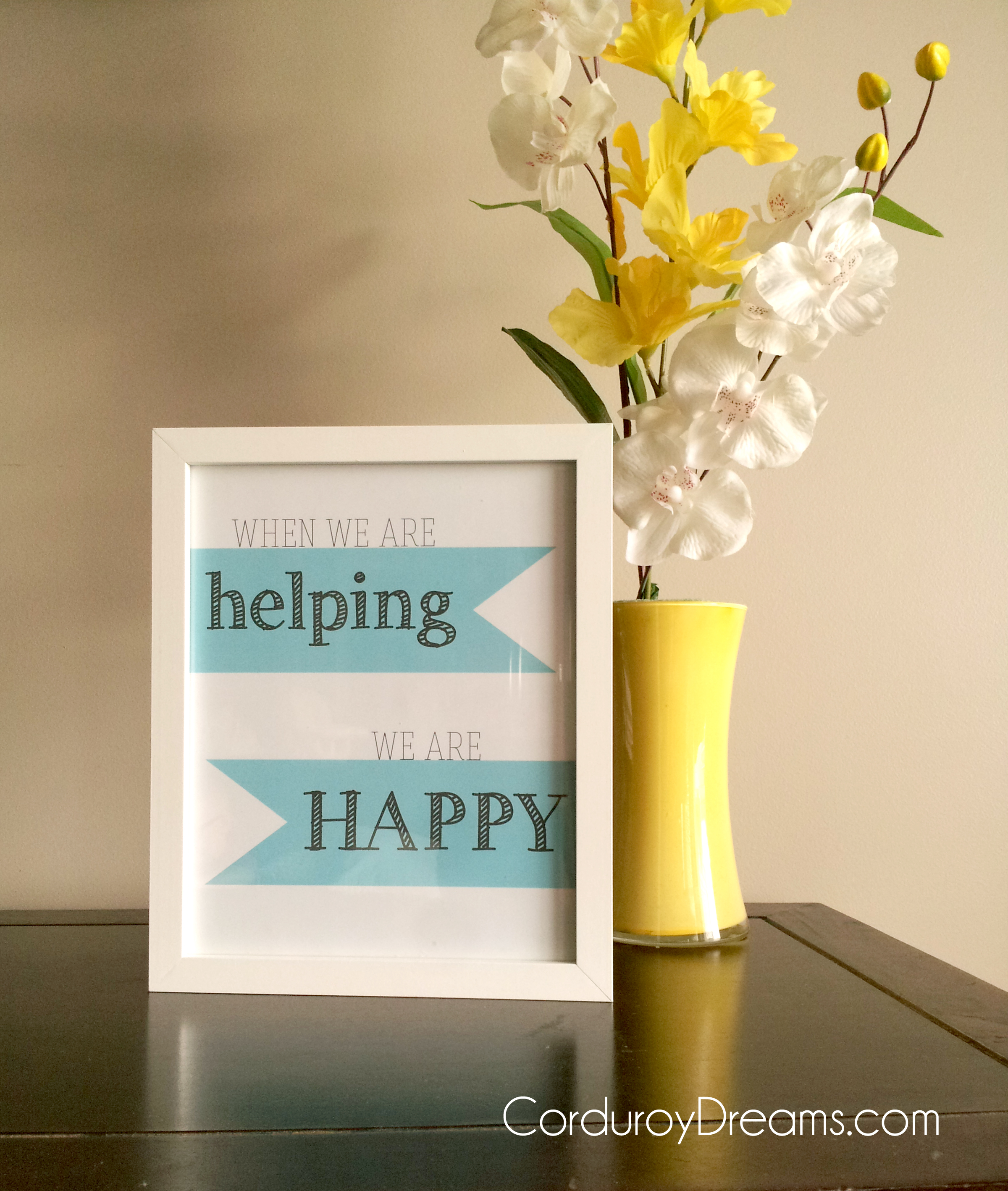 """""""When We're Helping, We're Happy"""" printable {free download}"""