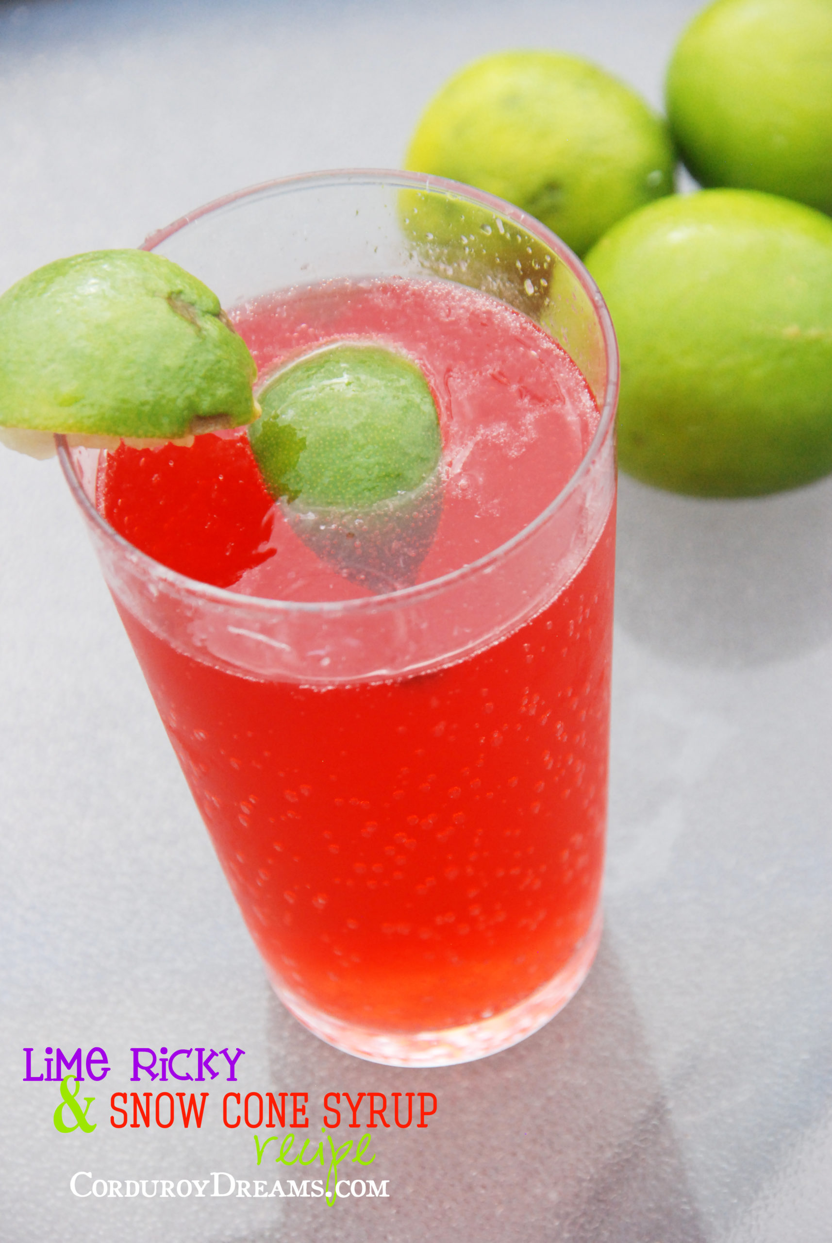 Lime Ricky & Snow Cone Syrup Recipe