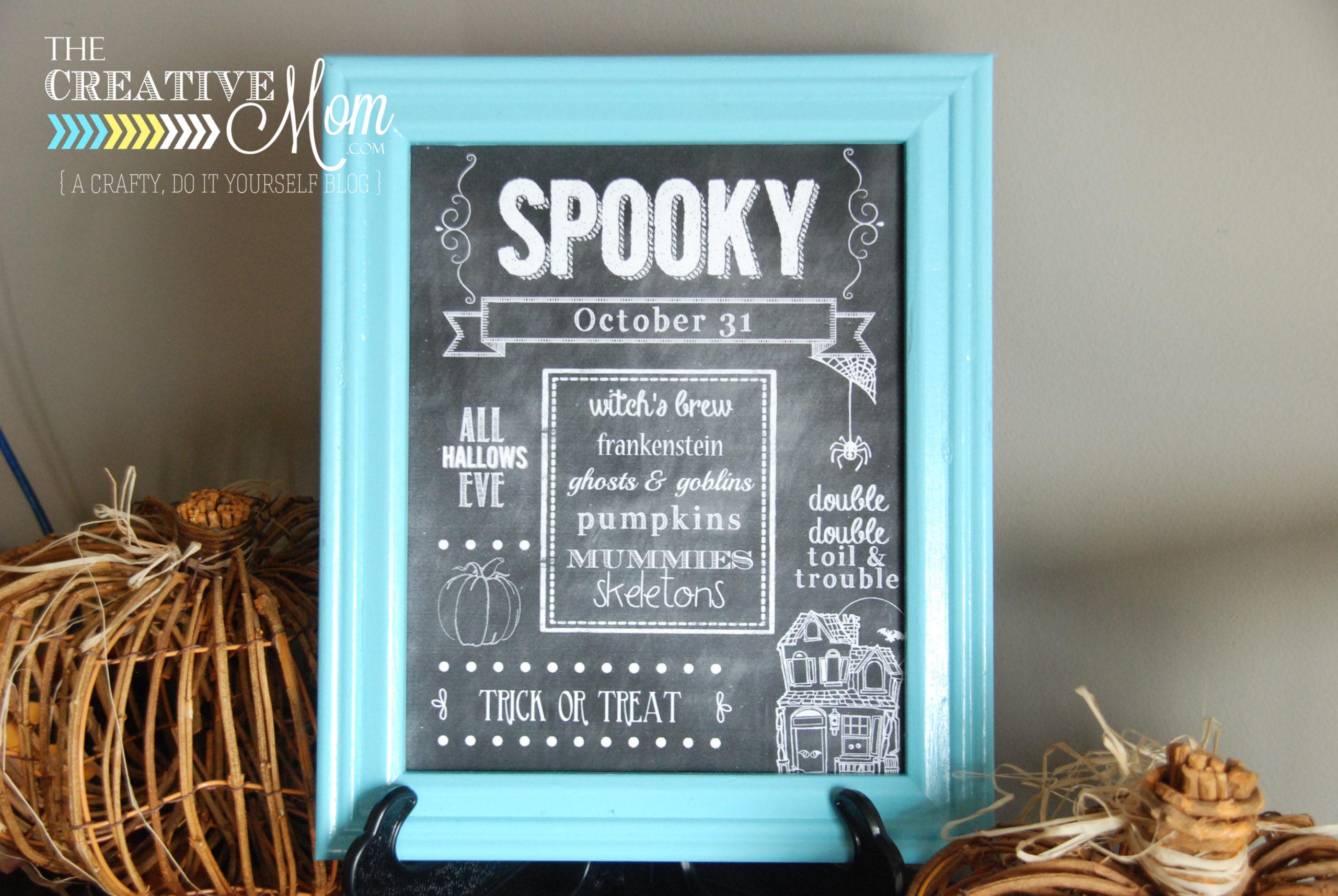 Free Halloween Printable {chalkboard}