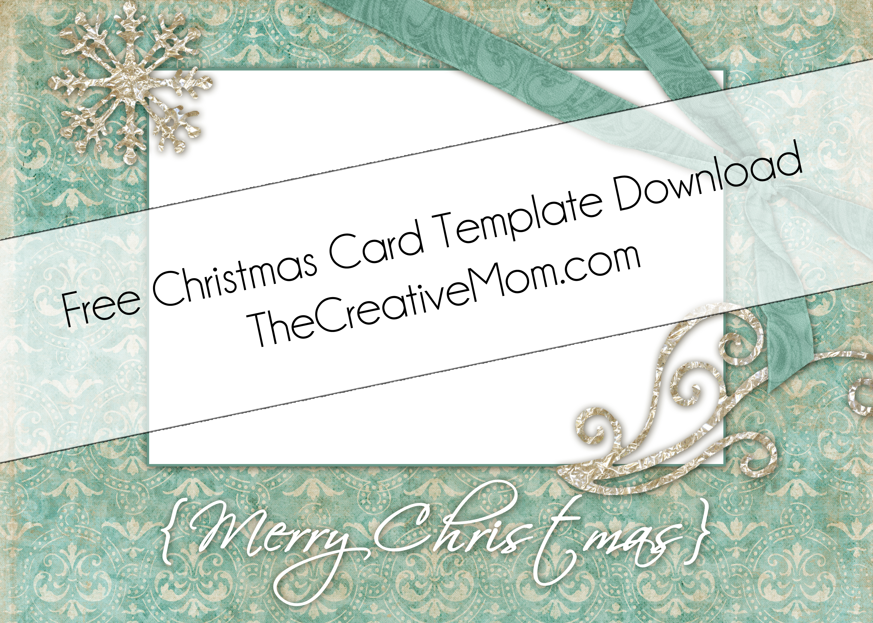 Christmas Card Templates {Free Download}
