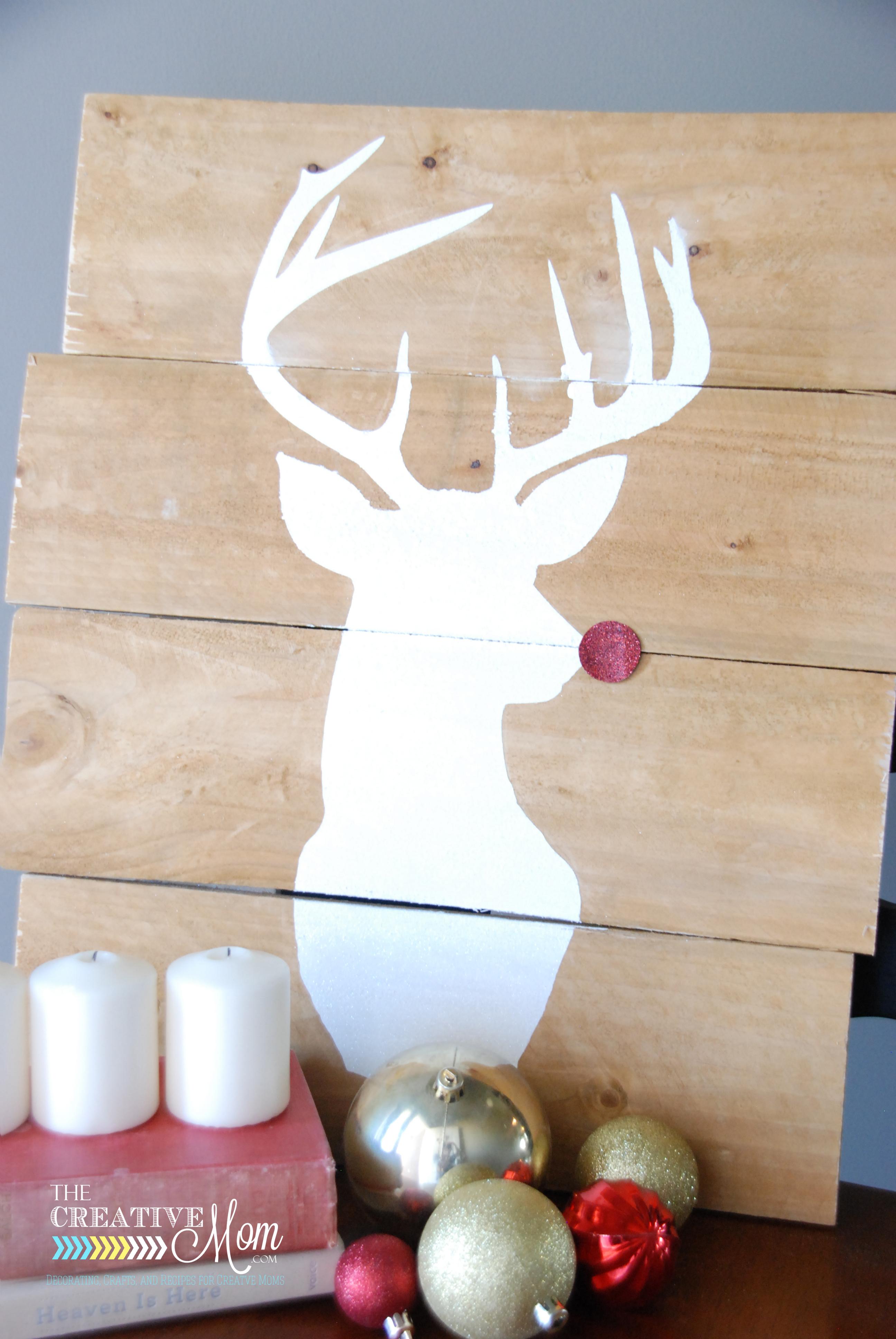 Pallet Deer Silhouette (he's glittery!)