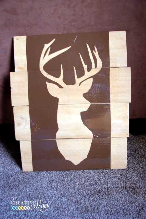 Pallet Deer Silhouette He S Glittery The Creative Mom
