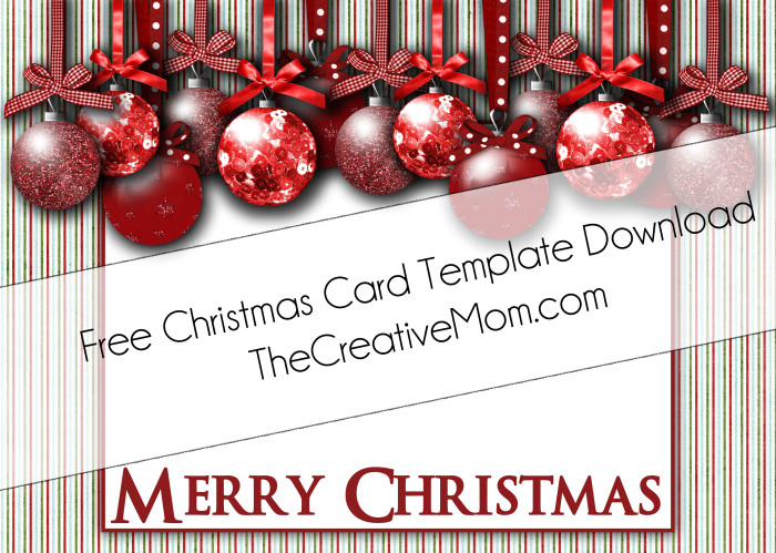 Happy Holidays Blue Red 5×7 With Free Xmas Card Template