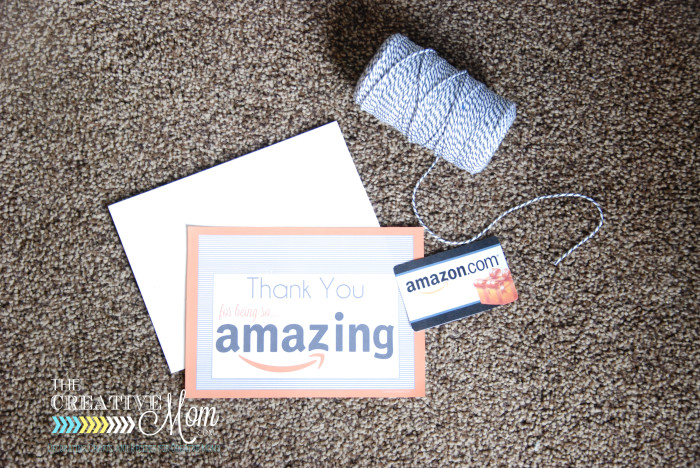graphic relating to Amazon Printable Gift Card titled Amazon Reward Card Printable Tag - The Resourceful Mother