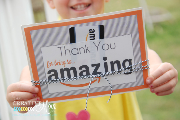 photo about Amazon Gift Card Printable called Amazon Reward Card Printable Tag - The Artistic Mother