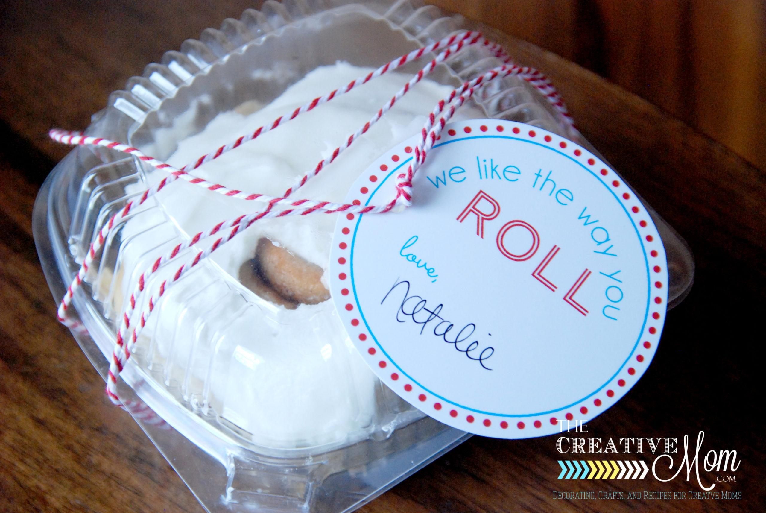 Cinnamon Roll Gift Tags {Free Printable}