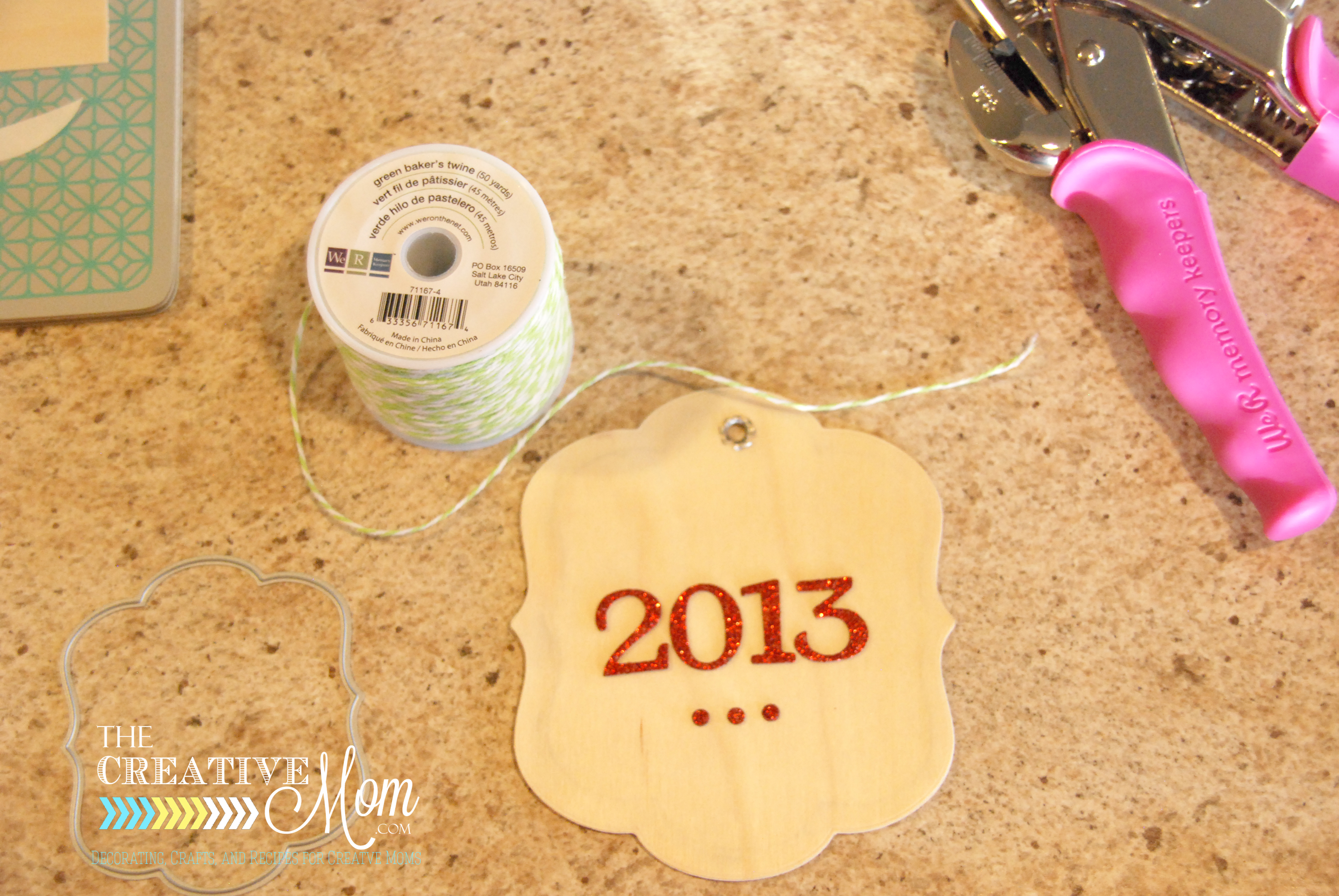 Homemade Photo Ornaments {using wood paper}