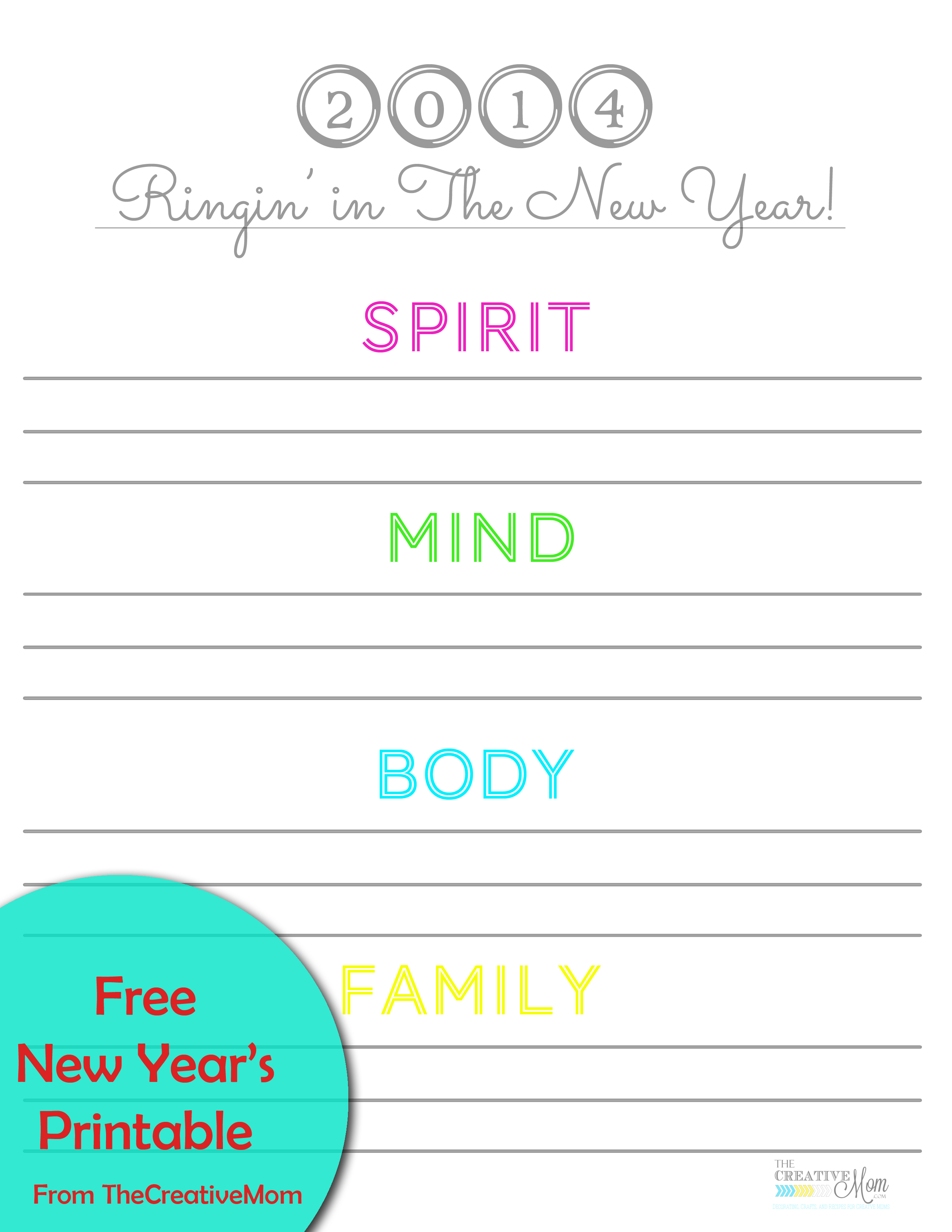 New Years Printables {free download}