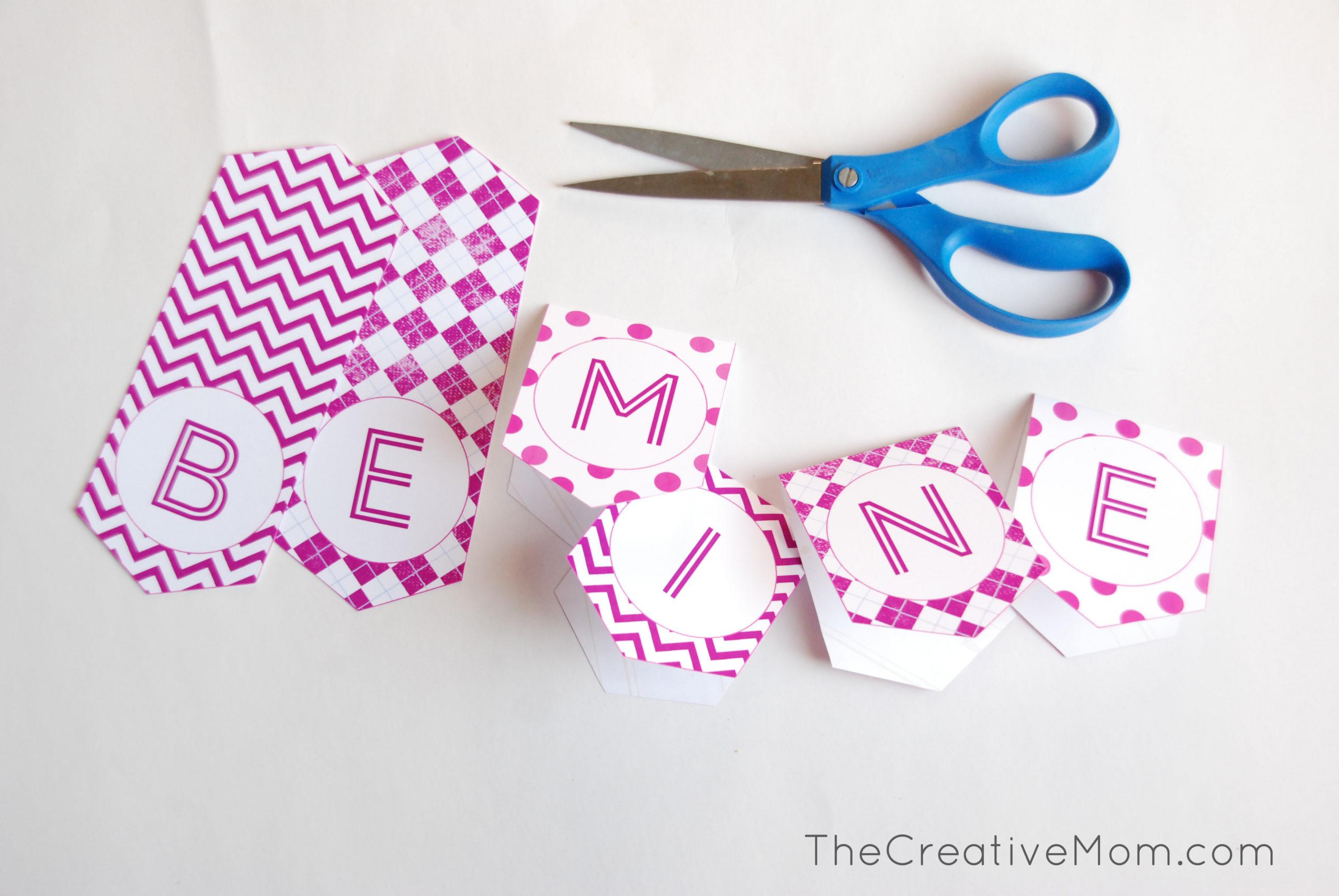 Printable Valentine Banner