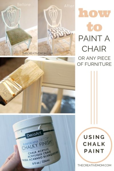 how to paint a chair with chalk paint