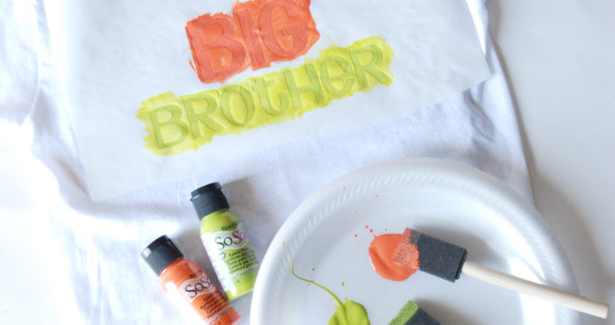 DIY Screen printing {Big Brother & Sister Shirts}
