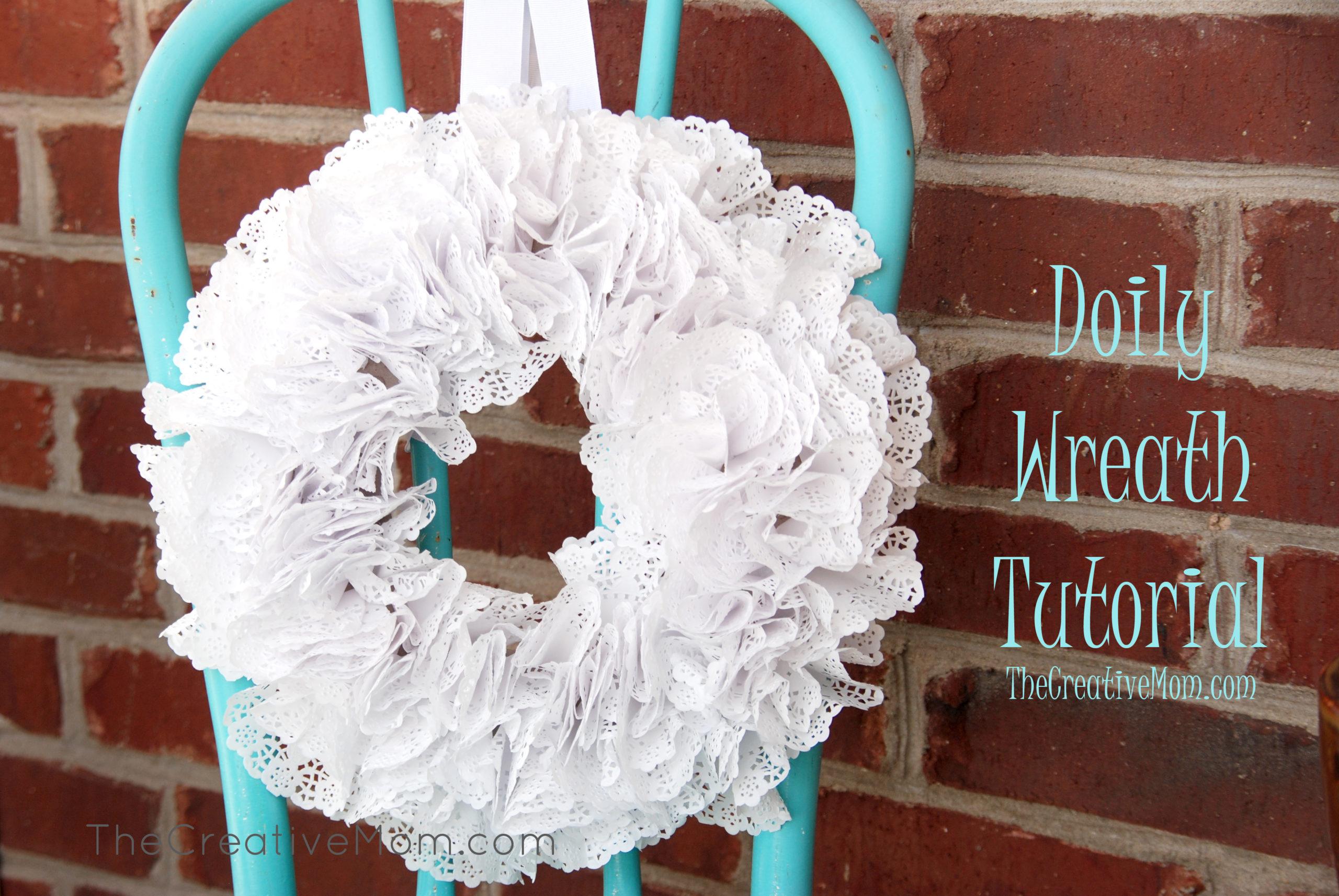 Doily Wreath Tutorial