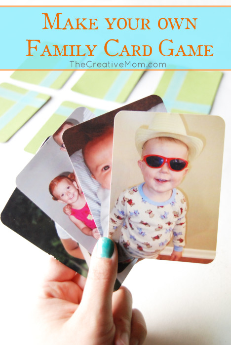 Make Your Own Family Card Game Mothers Day Gift Idea
