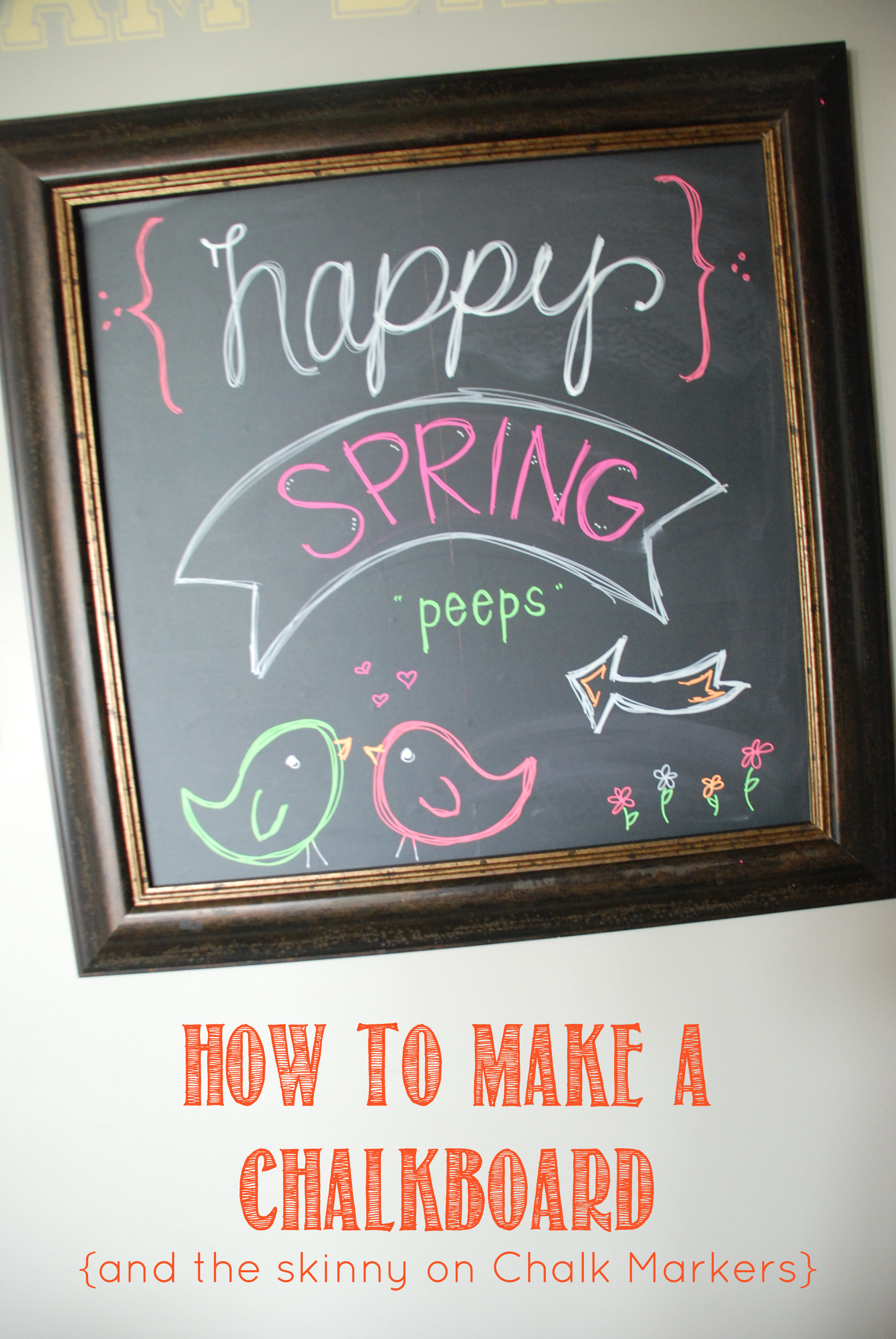 how to make a chalkboard and chalk markers