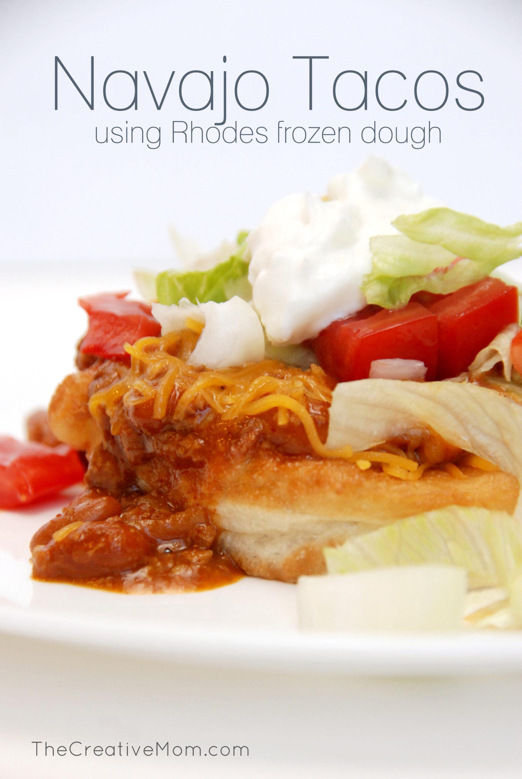 Navajo Tacos {Rhodes dough recipe}