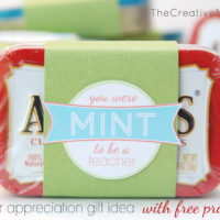 Mint to Be a Teacher {teacher appreciation gift idea}