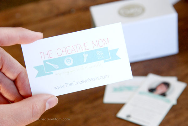 New business cards for alt summit a giveaway the creative mom you may have noticed a couple weeks ago my blog got a whole new face lift i got a new logo design and color scheme that represents my blog and my style colourmoves