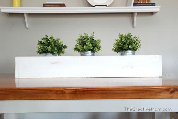Diy planter box centerpiece build it for $8 thecreativemom.com