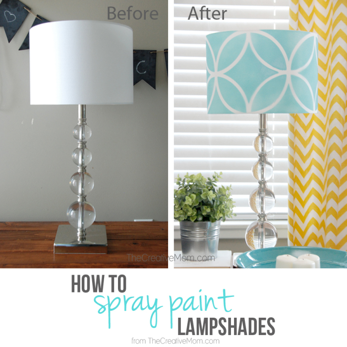 How To Stencil A Lampshade The Creative Mom