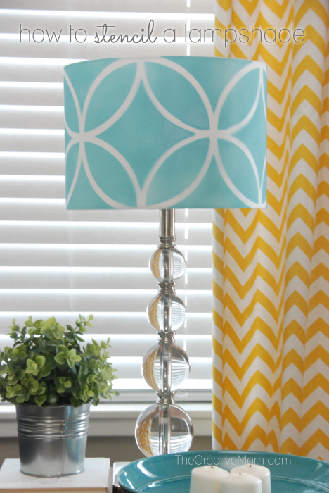 How to stencil a lampshade 468x700