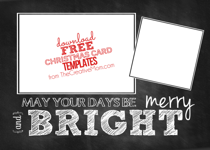 Christmas Card Templates (free download) - The Creative Mom