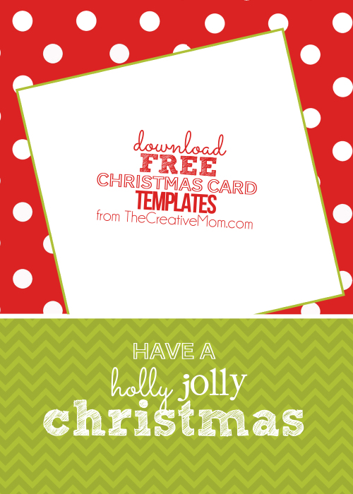 holly jolly vertical jpeg - Free Christmas Card Templates