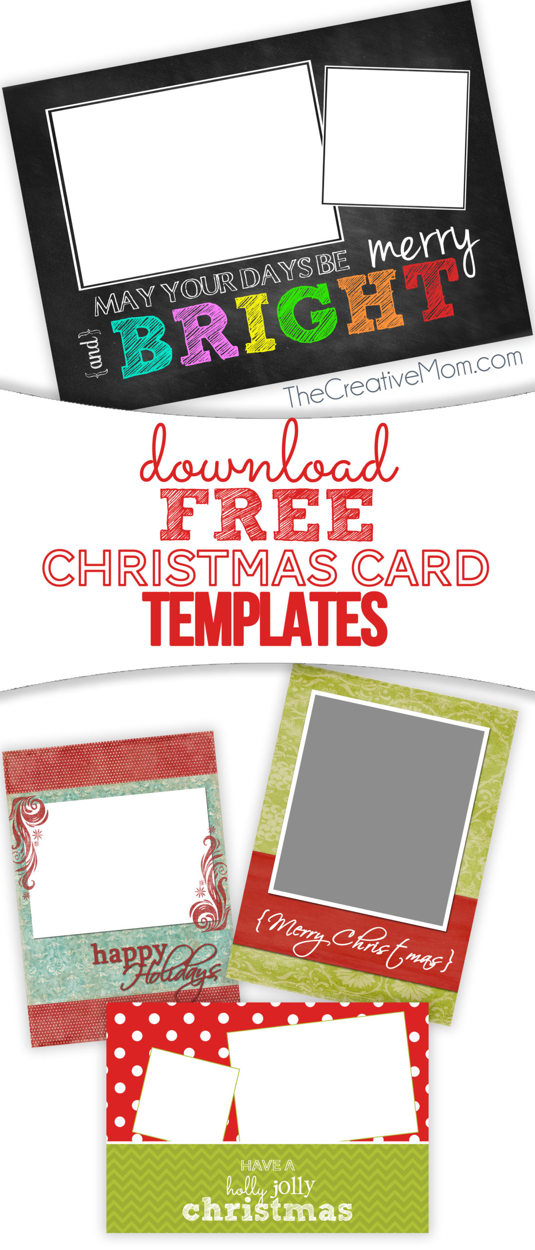 Christmas Card Templates (free download)