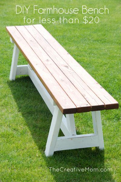 Building plans for a DIY farmhouse bench