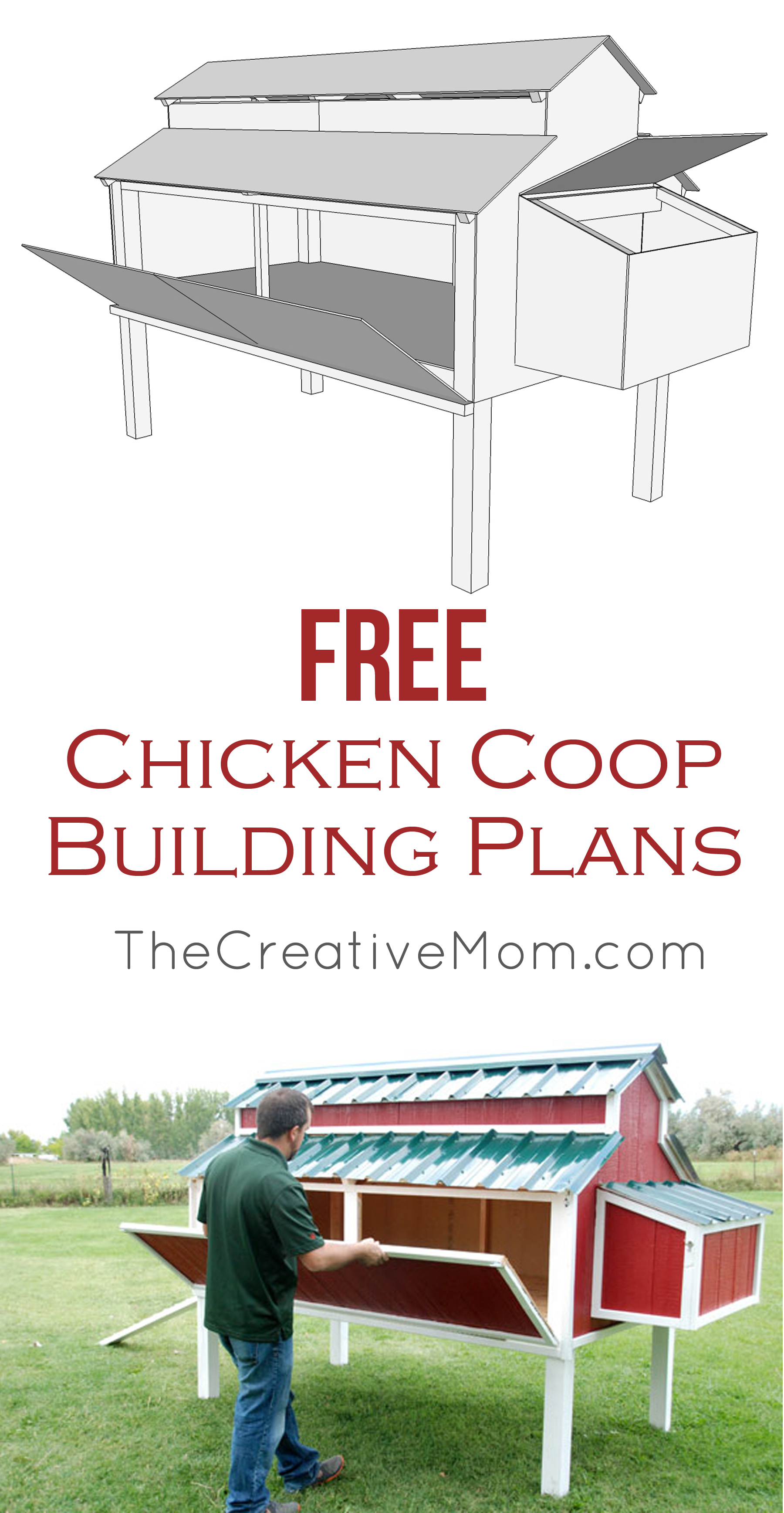 Step by step chicken coop plans free for Free coop plans