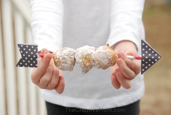 donut holes on a stick