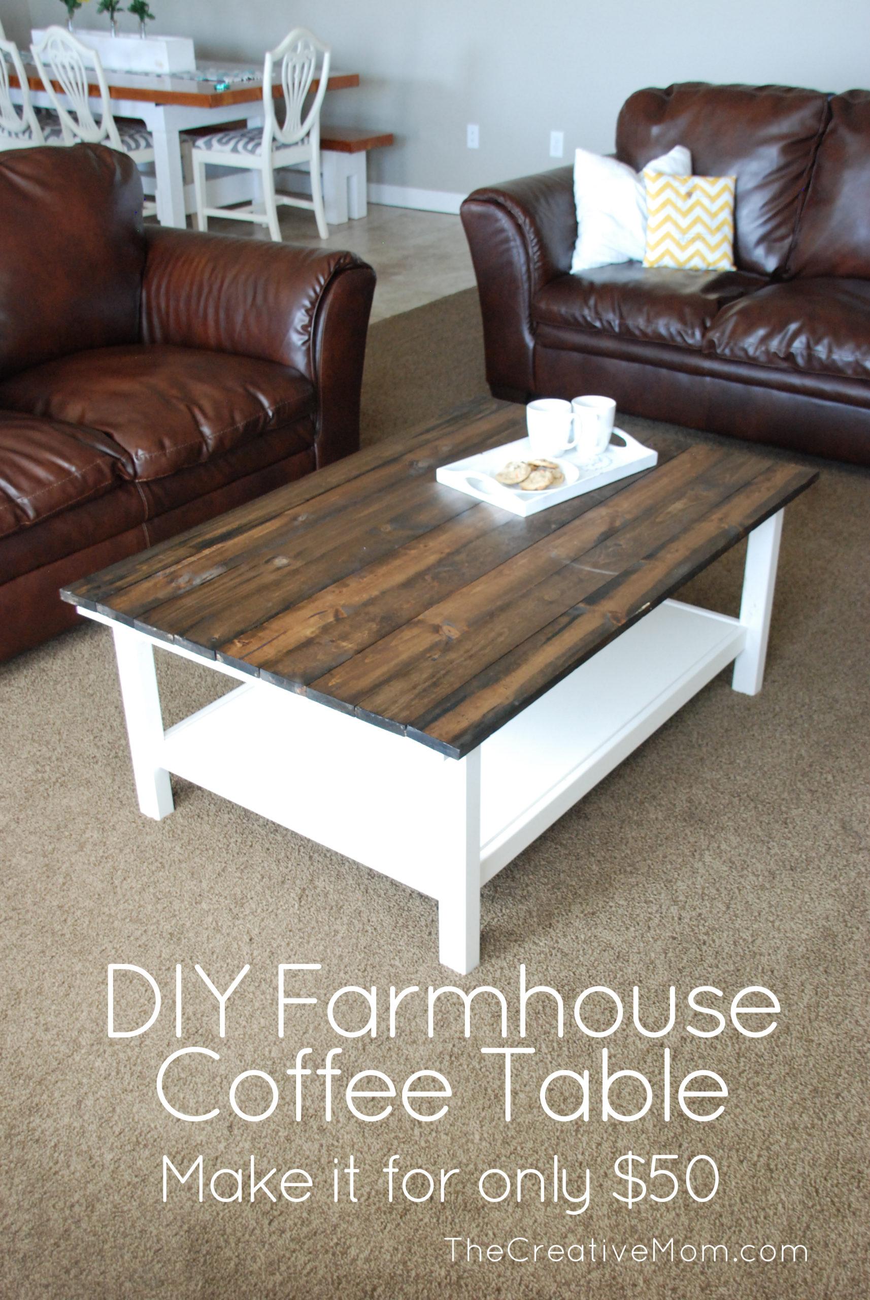 Ikea Hack- DIY Farmhouse Coffee Table