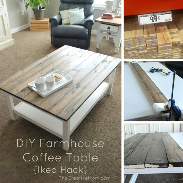 Coffee Table Ikea.Diy Farmhouse Coffee Table