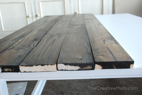 DIY Planked Coffee Table