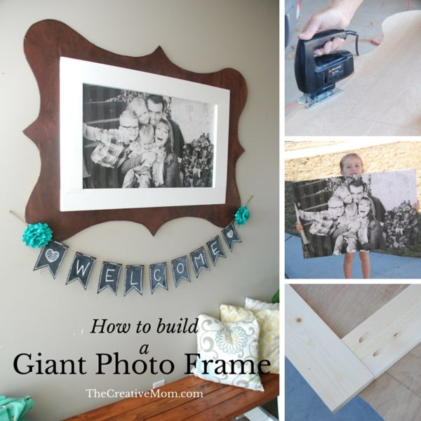 diy hanging photo frame